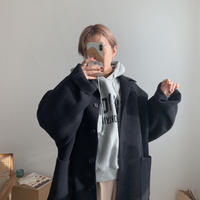 【NOKCHA original】wool over coat/deep navy_no0049