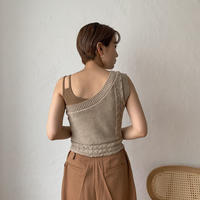 《予約販売》one shoulder knit bustier/3colors_nt0404