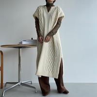 《予約販売》long knit vest/2colors_nt1090