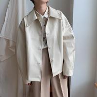 ✳︎予約販売✳︎fake leather single jacket/2colors_no0066