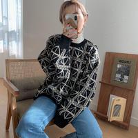 ✳︎予約販売✳︎vintage pattern knit_nt0203