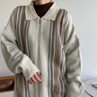 《予約販売》unisex accent knit  cardigan/2colors_nt1107