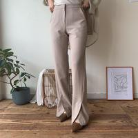 《予約販売》slit slim slacks pants/2 colors_np0172