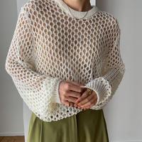 《予約販売》mesh lady knit/3colors_nt0856