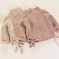 子供服 リボン スリット入りセーター