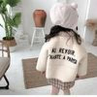 子供服 ボア刺繍コート