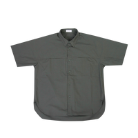 TYPEWRITER SHORT SLEEVES BIG SHIRT c/#KHAKI [NOL201407]