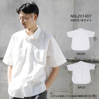 TYPEWRITER SHORT SLEEVES BIG SHIRT c/#WHITE [NOL201407]
