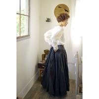 gathered skirt/tart《dark brown - size L》