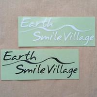 ステッカー[Earth-Smile Villageロゴ、文字抜き]