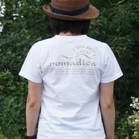 nomadicaロゴT WHITE<10周年バージョン>