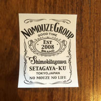「NOMOUZE GROUP GOOD TIME」ステッカー