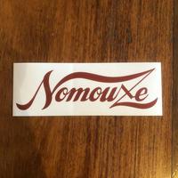 「NOMOUZE」ステッカー/ WHITE×RED