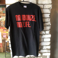 NO MOUZE NO LIFE Tシャツ /ブラック×レッド