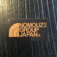 「NOMOUZE GROUP JAPAN」透明タイプステッカー/GOLD×BLACK