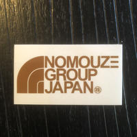 「NOMOUZE GROUP JAPAN」透明タイプステッカー/GOLD×CLEAR