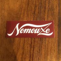 「NOMOUZE」ステッカー /RED× WHITE