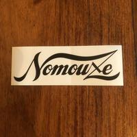 「NOMOUZE」ステッカー/ WHITE×BLACK