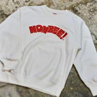 NONBEE LOGO SWEAT   white/ red