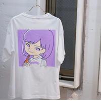 """SAIRI ITO × NONBEE!"" ART T-SHIRT   white/purple"