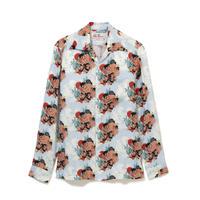 Aloha Blossom  × NONBEE! ハワイアンシャツ 長袖  水色