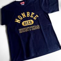 BEER HUNTERS TEE  navy/yellow