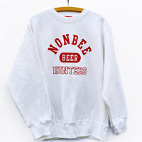 NONBEE BEER HUNTERS SWEAT  white/red