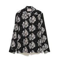 Aloha Blossom  × NONBEE! ハワイアンシャツ 長袖  黒