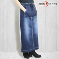 レッドペッパージーンズ レディース スウェットデニム ロングシルエットスカート ~red pepper~