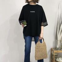 【この夏おススメTシャツ】 メッシュ切替えロゴTシャツ - LEO-2131 -~praia~