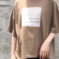 2020ss   異素材プリントTシャツ LER-2081 ~praia~
