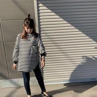 2021s  ボーダー袖リブTシャツ( 811329)~ayane/アヤン~