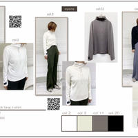 2020~2021aw  両面起毛ボトルネックTシャツ 870802~ayane/アヤン~
