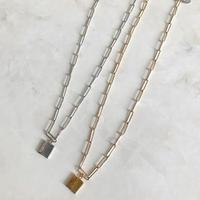 Square Motif Necklace  BRN -3400  ~ DeWLuX ~