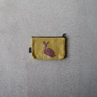 松尾ミユキ  mini flat pouch (Rabbit)