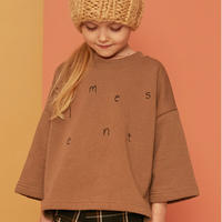 Kids on the moon / hazelnut 7/8 sleeve sweatshirt