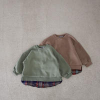 KIDS layered sweat (2color)