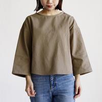 [オトナ]  Cotton twill calm blouse (2color)
