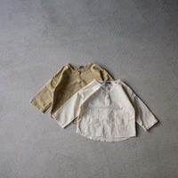 KIDS cotton henryneck pocket shirt  (2color)