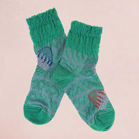 【SALE】  Shaved ice   Socks       NS222Y-47/ sea green