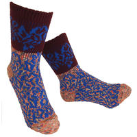 【nonnette】 Various fabrics Socks    NS234K- 28/ burnt orange