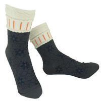 【nonnette】 Flower shower Socks     NS239Y-90 / gray