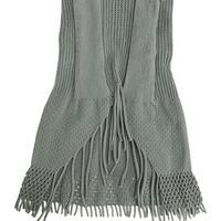 【nonnette】 Center fringe back flare  Leggings NL060R- 93 / olive gray