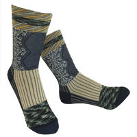 【nonnette】 Various fabrics Socks    NS230Y- 87/ black navy