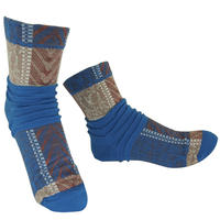 【nonnette】Tree withering  Socks     NS240T-80 / blue