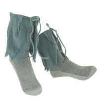 【nonnette】 Volume ruffle Socks       NS250R-92/ blue gray