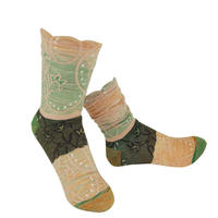 【nonnette】 Circular stem  Socks      NS220T- 09/ pale salmon