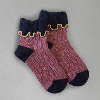 【Socks】 Curly flower  Socks    NS267G-37 (¥2,600 +tax)