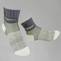 【Socks】See-through combination  Socks    NS224Y-01 (¥2,000 +tax)
