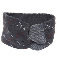 【nonnette】 Switching  lace  Headbands       HH022Y-95/charcoal